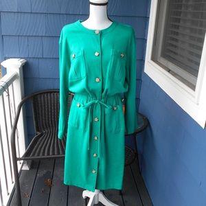 Talbots Long Sleeve Cotton knit Safari Dress